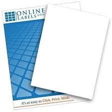 Matte White Vinyl Sticker Paper 100 Sheets I Heart Oils