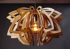 lily wooden chandelier light li23