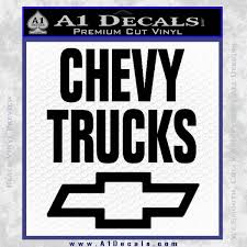 Chevy Trucks Decal Sticker Stacked A1 Decals