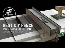 Homemade Table Saw Fence System Easy Simple New Style Fence Table Saw Youtube