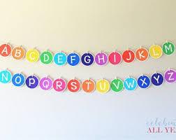 Alphabet Banner Etsy