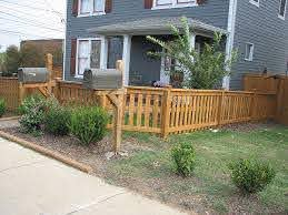4ft Picket Style Fence Wood Fence Design Backyard Fences Fence Design