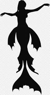 Silhouette Mermaid Tails Legendary Creature Animals Png Pngegg