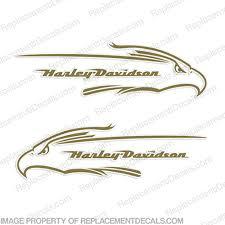 Harley Davidson Fxd Eagle Gas Tank Decals Set Of 2