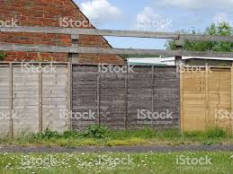 Image Of Different Colour Fence Panels Aged Weathered Wooden Fencing Stock Photo Download Image Now Istock