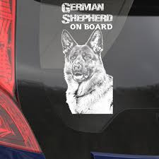 Car Window Sticker German Shepherd Clear Vinyl Decal On Board For Art Print Dog Sign J Boutique Stencils Royalwallskins