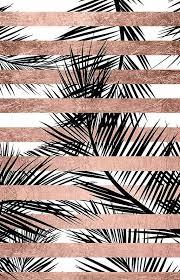 trendy tropical palm trees chic rose