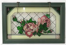 faux stained glass rose window hanging