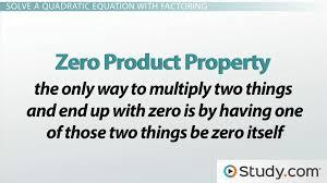 solve a quadratic equation by factoring
