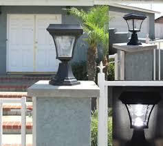 1 Pk Solar Fence Gate Post Light With 4 Leds For Wood Mason Stone Brick Concrete 875518004235 Ebay