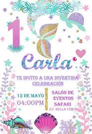 Invitacion Digital Cumpleanos Sirenita Sirenas Bs 500 000 00