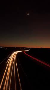 خلفيات للموبايل ايفون طريق فى الليل Hd 2020 مربع