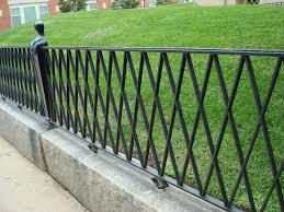 Black Wrought Iron Fence Ideas Dohoe Com Metal Garden Fencing Iron Fence Wrought Iron Fences