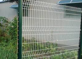 Decorative Galvanised Welded Wire Mesh Sheets Pure White 3d Mesh Garden Fence