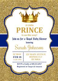 Royal Prince Baby Shower Invitation Little Prince Baby Sprinkle