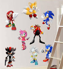 Sonic Hedgehog 8 Characters Decal Removable Wall Sticker Decor Art Free Shipping Sticker Decor Removable Vinyl Wall Decals Removable Wall Stickers