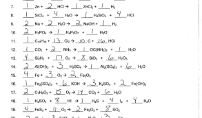 type of chemical equation worksheet 3
