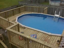 Spellbinding Oval Pool Deck Framing With Swim Time Heavy Duty Deluxe In Pool Ladder A Swimming Pool Decks Above Ground Swimming Pools Backyard Pool Landscaping