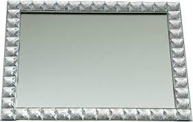 elegance silver mirror vanity tray