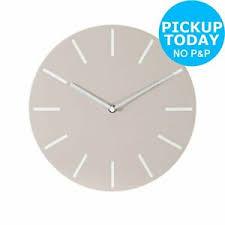 argos home wall clock cream