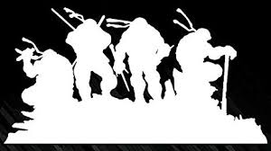 Amazon Com Tmnt Ninja Turtle Silhouette Logo Vinyl Stickers Symbol 6 Decorative Die Cut Decal For Cars Tablets Laptops Skateboard White Computers Accessories
