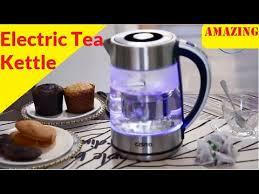 electric tea kettle 2 in 1 glass