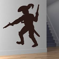 Figure Printed Pirate With Gun Wall Decal Vinyl Removable Living Room Home Decor Wall Sticker For Kids Bedroom Nursery Wish
