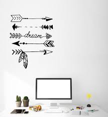 Vinyl Wall Decal Ethnic Style Arrows Protection Dream Dreamcatcher Sti Wallstickers4you