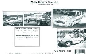 Wally Booth S Gremlin X And 72 Camaro Pro Stock 1 25 Br Span Style Color Rgb 255 0 0 1 Of 250 Limited Reissue Span