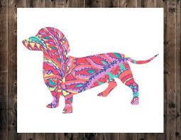 Dachshund Decal Wiener Dog Decal Dog Decal Lilly Decal Etsy