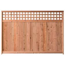 Signature Development 6 Ft H X 6 Ft W Western Red Cedar Checker Lattice Top Fence Panel Kit 6x6chekrtopfkit The Home Depot Fence With Lattice Top Fence Panels Wood Fence Design