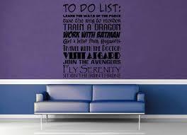 Fandom To Do List Wall Decal Geekerymade