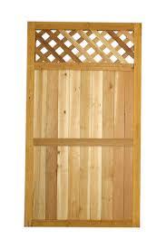 5 4 X 3 Cedar Diamond Lattice Top Wood Gate At Menards
