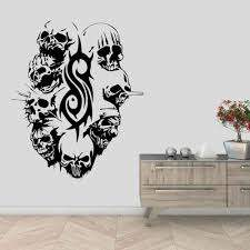 Underground Band Evil Clown Mask Logo Wall Decal Sticker Band Artist Home Living Room Decoration Removable A001999 Wall Stickers Aliexpress