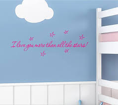 Amazon Com I Love You More Than All The Stars 22x8 Pink Vinyl Wall Art Inspirational Quotes Decal Sticker Home Kitchen