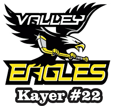 Valley Youth Hockey Association Valley Eagles Hockey Player Car Window Decals Stickers Tag Sports