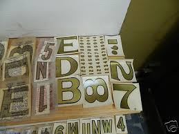 Vintage Duro Decal Number Letter Transfers Gold Sign Making Crafts Primitive Lot 292024853