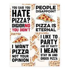 Funny Pizza Sticker And Decal Sheets Lookhuman