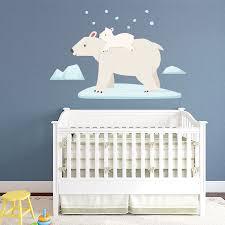 Polar Bear Wall Decal Polar Bear Wall Sticker Wallums