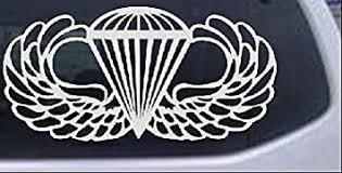 Amazon Com Rad Dezigns Airborne Wings Military Car Or Truck Window Laptop Decal Sticker White 6in X 3in Automotive