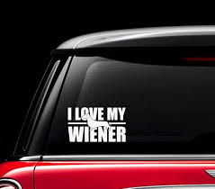 I Love My Wiener Dog Sticker Dachshund Car Stickers By Lil Punkers