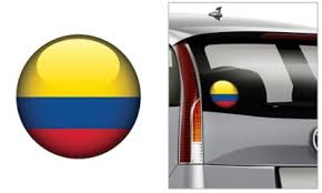 Colombian Flag Decal 4 1 2in Party City