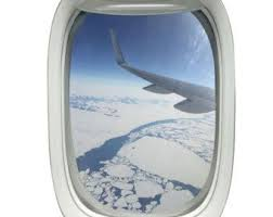 Airplane Window Decal With View Of Wing Aviation Decor Peel And Stick 14h X 10w Admire The Beautiful Blu Airplane Window Aviation Decor Airplane Window View
