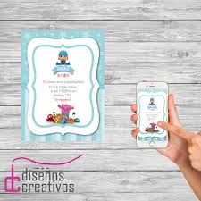 Invitacion Tarjeta Digital Personalizada Cumpleanos Pocoyo 150