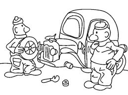 Buurman En Buurman Repareren Auto Kleurplaat Kleurplaatje Nl