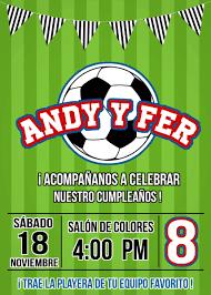 Invitaciones Imprimibles Personalizadas Futbol 75 00 En
