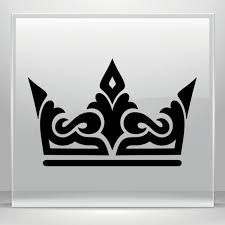 Simple Color Vinyl Royal Crown Chess Queen King Kingdom Stickers Factory