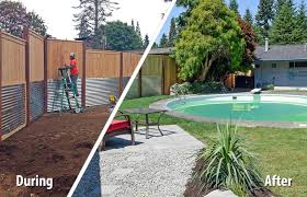 South Olympia Poolside Transformation Ajb Landscaping Fence Above Ground Pool Around Inground Swimming Pools Home Elements And Style Plants For Building Small Area Under Screen Crismatec Com