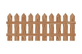 Rural Wooden Fence Vector Illustration White By Microvector Thehungryjpeg Com