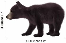 Black Bear Cub Wall Decal Wallmonkeys Com